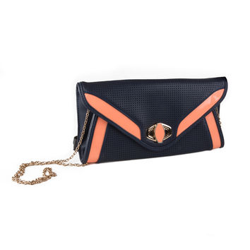 STREET LEVEL - Pink & Navy Blue Clutch Purse