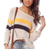Academy Sweater in Beige :: tobi