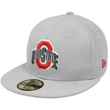 New Era Ohio State Buckeyes 59FIFTY Logo Fitted Hat - Gray