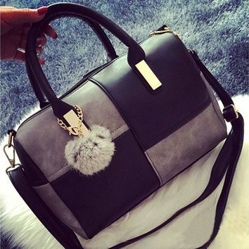 Office Ladies Bag Slung Leisure Fashion Soft Leather Bag [10198320007]
