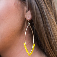 I Am The One Earrings, Yellow