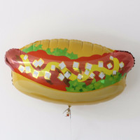 "Hot Dog Balloon/ 32"" Jumbo Balloon/  Food Balloon / Large Balloon / Birthday Party/Food/Giant Balloon/Party/ Foil Balloon / Party supplies"