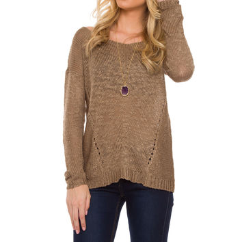 Shelby Sweater - Taupe
