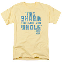 JAWS/SWALLOW YOU WHOLE - S/S ADULT 18/1 - BANANA -