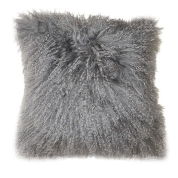 Moe's Home Collection Lamb Faux Fur Polyester Throw Pillow (Set of 2)