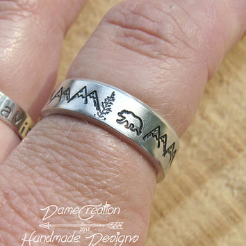 Mountain Ring, Silver Jewelry, Nature Jewelry, Mountain Ring Men, Mountain Ring Sterling Jewelry, Nature Ring for Women, Mountain Range Ring
