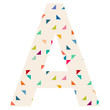 Confetti Cake Patterned Letter Wall Decal