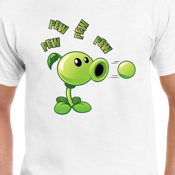 Plant VS Zombies Garden Warefare Inspired Peashooter Pew Pew Pew T-Shirt