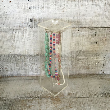 Lucite Box Lucite Necklace Holder Clear Acrylic Box Lucite Display Case Store Display Case Jewelry Box Mid Century Lucite Necklace Stand