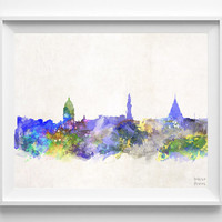 La Paz Skyline, Watercolor, Bolivia, Poster, Bolivian, Print, Cityscape, City Painting, Illustration Art Paint, Wall, Home Decor [NO 619]