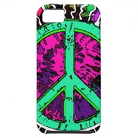Wild Trippy Hippie Peace Sign iPhone 5 Covers from Zazzle.com