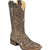 Corral Boots Crater Inlay-Detail Boots - Brown/Bone