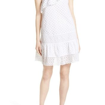 Tory Burch Zoe Eyelet One-Shoulder Dress | Nordstrom