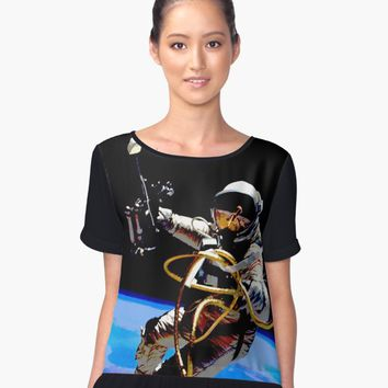 'EVA 8-ED WHITE' Graphic T-Shirt by IMPACTEES