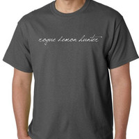 Rogue Demon Hunter T-shirt... S - M - L - Xl... White Ink Your choice shirt color