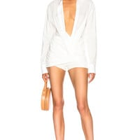 JACQUEMUS Ruched Shirt in Off White | FWRD