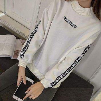 ICIK272 Loose and cashmere sweater female thickening