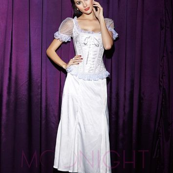 MOONIGHT 2017 New Black White Blue Yellow corsets and bustiers sexy Corsage waist corsets lace Short sleeve corset tops