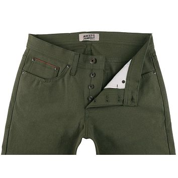 Naked & Famous Denim - Weird Guy Army Green Duck Selvedge Pants