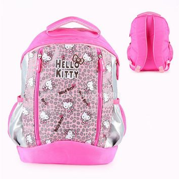 School Backpack New Fashion Hello Kitty Girls Students School Bags Kids Backpack Bag AT_48_3