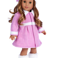 Lavender - 18 inch Doll Clothes - 3 Piece Doll Outfit - Coat, Hat and Boots