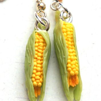 Corn Dangle Earrings