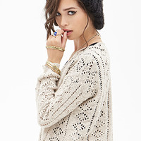 FOREVER 21 Boxy Open-Knit Sweater