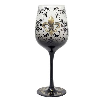Top Shelf Fleur-de-Lis 15-oz. Wine Glass (White)