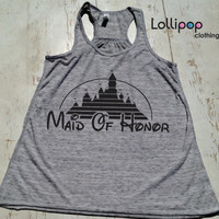 Maid Of Honor tank .Bridel Tank.Future Mrs.bridal shower.wedding gift.bride shirt. Bachelorette party. Disney. Funny top. Fairy tail wedding