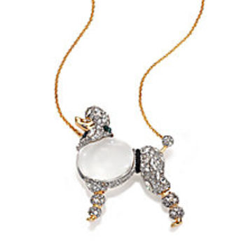 Alexis Bittar - Sport Deco Lucite & Crystal Jelly Belly Strolling Poodle Pendant Necklace - Saks Fifth Avenue Mobile