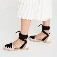 LACE-UP ESPADRILLES Look+: 1 of 2