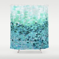 :: Sea Glass Compote :: Shower Curtain by :: GaleStorm Artworks ::