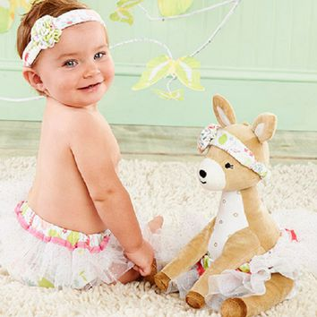 Flora the Fawn Plush Plus Deer with Bloomers and Headband