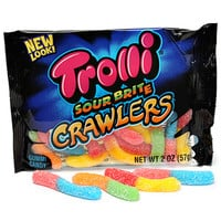 Trolli Sour Brite Crawlers Gummy Worms 2-Ounce Candy Packs: 24-Piece B