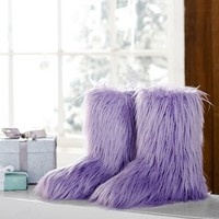 Fur-Riffic Booties, Purple