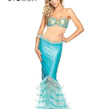 MOONIGHT Sexy Fancy Blue Mermaid Costumes Halloween Masquerade Little Mermaid Sexy Mysterious Cosplay Fantasy Disfraces Macchar Cosplay Catalogue