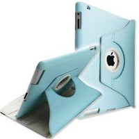 SANOXY 360 Degrees Rotating Stand (Blue) Leather Case for Apple iPad 2 2nd generation