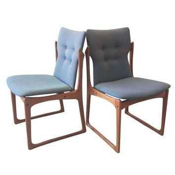Four Mid Century Vintage Danish Teak Dining Chairs