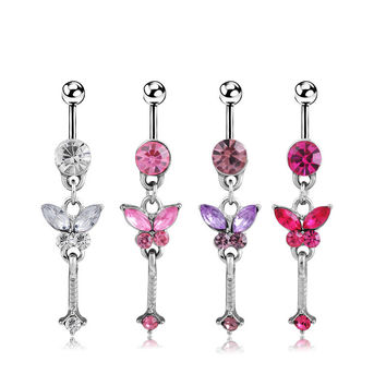 Butterfly Accessory Ring Belly Ring [6768824199]