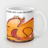 Sci-Fi future big brained cat overlord Mug by samupress