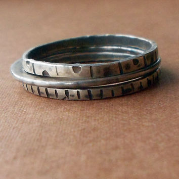 Sterling Silver Stacking Rings Size 85 by ErinAustin on Etsy