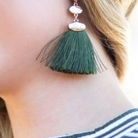 Radiant Romance Earrings in Olive | Monday Dress Boutique