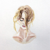 barely . giclee fine art print of watercolor painting