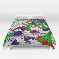Notes abstract Duvet Cover by LoRo  Art & Pictures