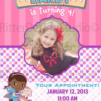 Doc McStuffins Birthday Invitation - Printable/Digital File
