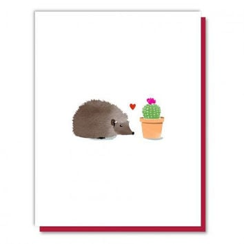 Hedgehog Loves Cactus Card