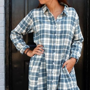 Zoe Shirt - Highland Flannel by Tulip Clothing