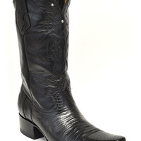 Gavel Handcrafted Spanish Toe Collection Black Lizard  Cowboy Boots