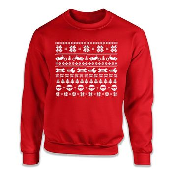 Motorcycle - Ugly Christmas Sweater - T Shirt