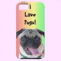 I Love Pugs! iPhone 5 Case from Zazzle.com